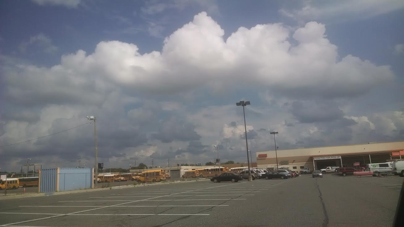 clouds over home depot