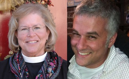 Former bishop Heather Cook and Tom Palermo, victim of her DUI crash.